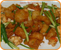 Stir-fried King prawn and Fish maw