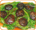 Sauteed Mushrooms and Lettuce