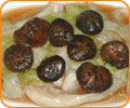 Sauteed Mushrooms and Iceberge Lettuce