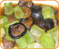 Sauteed Mushrooms and Green mustard