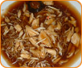 Rice or Egg noodles with Crab's meat in gravy