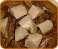 Braised Goose webs and Abalone in Casseroled